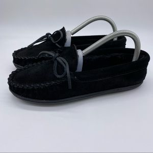 Minnetonka Cady Classic Trapper Suede moccasin